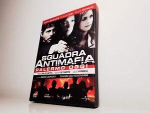 SQUADRA ANTIMAFIA PALERMO OGGI Claudio Gioè Cavallari COFANETTO CARTONATO 3 DVD