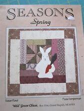 """Seasons"" Spring leaflet by Wild Goose Chase (Susan Rand & Paula Kemperman)"