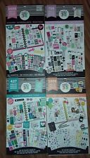 lot of 4 happy planner sticker books 4,146 stickers!  tiny, to do, quotes