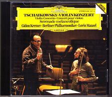 Gidon KREMER: TCHAIKOVSKY Violin Concerto Lorin MAAZEL CD Serenade melancolique