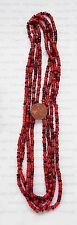 Antique Wholesale Lot 10 Bags / Strands Red & Rose White Heart Trade beads  V241