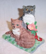 Silver Deer's Ark Figurine by Tom Rubel American Shorthair Cats New in Box