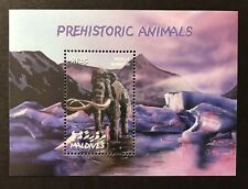 2002 MNH MALDIVES WOOLLY MAMMOTH DINOSAUR STAMPS SS PREHISTORIC ANIMALS ELEPHANT
