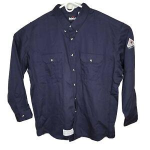 Bulwark FR Flame Resistant Uniform Long Sleeve Work Shirt 3XL CAT2 2112 8.6APTV