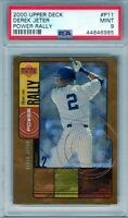 "2000 U.D. Power Rally #P11 "" Derek Jeter "" PSA 9 {HOF 2020 99.7%} POP 14 Yankees"