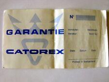 GARENTIE WARRANTY CERTIFICATE PAPERS  WATCH CATOREX SWISS