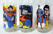 Pepsi Superman Promo Glass Set 3 1978