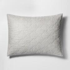 Threshold Gray Chenille Euro Pillow Sham Nwt