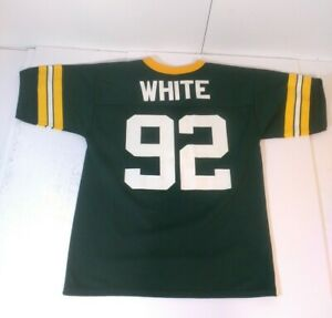 Vintage Reggie White #92 Green Bay Packers Youth Size Large Logo 7 Jersey