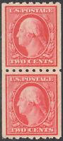 SC#391 -  2c George Washington Perf 8 1/2 Coil Pair MH