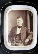 cadre Napoléon III, porte-photo sous verre noir, passe-partout, photo Homme