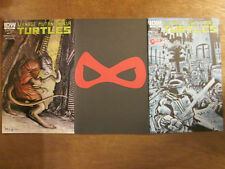 3x TEENAGE MUTANT NINJA TURTLES #23; 1st print JETPACK & 1:10 Variant set TMNT