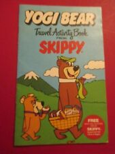 VINTAGE 1986 YOGI BEAR TRAVEL ACTIVITY BOOK FROM SKIPPY PEANUT BUTTER NOS