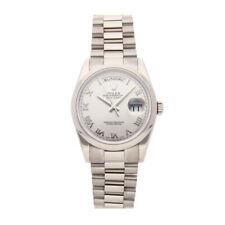 Rolex Day-Date Auto 36mm Mens Rhodium Dial President Bracelet Watch 118209