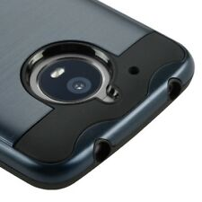 INK BLUE BLACK BRUSHED IMPACT COVER CASE +GLASS SCREEN FOR MOTOROLA Mo
