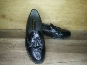 Stacy Adams Genuine Snake Skin Men's Dress Shoes Black Size 7.5 M