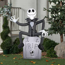 5 ft. Nightmare Before Christmas Jack Skellington Tombstone Halloween Inflatable