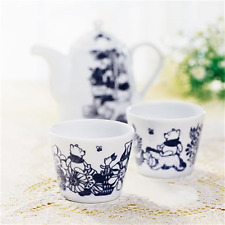 Disney Winnie the Pooh D-WP01 Pair TeaPot set Monochrome Made In JAPAN F/S