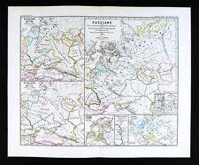 1880 Spruner Historical Map of Russia Kiev Lithuania Estonia Black Sea 900-1240
