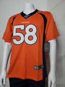 Denver Broncos VON MILLER #58 Orange jersey. Youth size. Nike Dry. Stitched. New