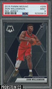2019 Panini Mosaic #209 Zion Williamson Pelicans RC Rookie Red Jersey PSA 9 MINT
