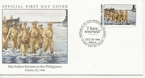 50th Ann WWII Comm/FDC - Marshall Isles - MacArthur Returns to PI - 1994(1209)Z