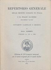 HN Sambon Repertorio generale delle monete coniate in Italia e da italiani