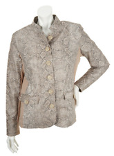 Dennis Basso Stand Collar Jacket with Ponte Knit Side Panel, Size XS, MSRP $69