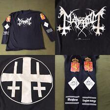 VTG 90's Mayhem Legion Norge Official Misanthropy Rewcords Longsleeve Shirt XL