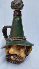 """German Mountain Man pottery face on """"Bayerischer Gebirgsenzian"""" bottle"""