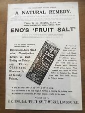 Antique 1911 Print Advertisement Advertising ENO'S Fruit Salt Natural Remedy