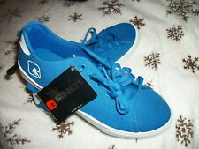 And1 Non-Marking Comfort Padded Insides Blue Canvas Tennis Shoes Low Tops Size 6