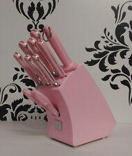Mundial Pink 5100 Series 10-Piece Block Knives Knife Set(Kitchen Aid Cuisinart)