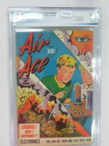 Air Ace Vol 3 #1 PGX 8.5 Japanese War Cover! Great Eye Appeal!