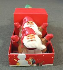 Williams Sonoma Christmas Santa Napkin Rings Set Of 4 New In Box