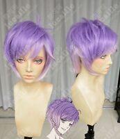 Men Short Purple Ombre Straight Cosplay Diabolik Lovers Sakamaki Kanato Full Wig