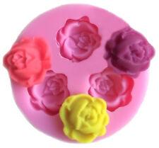 Mini Rose Flower 3 Cavity Silicone Mold for Fondant, Gum Paste, Chocolate, Craft