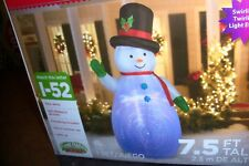 PROJECTION SWIRL SNOWMAN  7.5 FT TALL CHRISTMAS AIRBLOWN INFLATABLE NIB