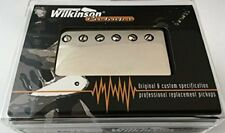 Wilkinson Humbucker Nickel Cover Pickup - Black Mounting Ring, Neck WCHV-FB