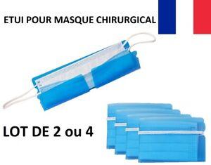 x2 x4 Lot Etui Boite Pliable protection masque sac rangement transport