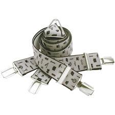 Hosenträger Herren 35 mm  Gr. 120  X-Form Herren-Hosenträger 4 Clips 7586-11-120