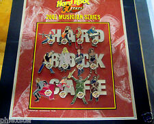 BOSTON 12 MUSICIANS LETTER PUZZLE SET 30TH ANNIVERSARY Hard Rock Cafe PINS