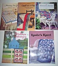 Lot 5 Quilt in a Day book Eleanor Burns Log Cabin Morning Star Lovers Knot Winni