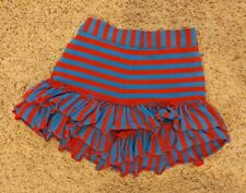 Mustard Pie Ruffle Shorts Size 5 Red And Blue