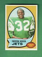 1970 TOPPS FOOTBALL #128 EMERSON BOOZER ROOKIE CARD NEW YORK JETS CENTERED NM-MT