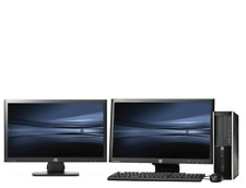 "PC Set: HP elite 8100 SFF  and Dual 2x 22""LCD Widescreen monitor - Intel i5 Win7"