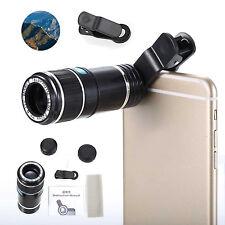 12X Zoom Ottico fotocamera Telescopio Lente Clip Holder Per telefoni cellulari