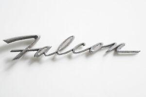 Original 1960s Ford Falcon Chrome Script Badge –8 Inch