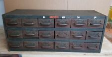 Vintage 18 Drawer Equipto Parts Cabinet Industrial