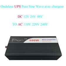 UPS DC12V/24V/ 48V à AC220V 500W onduleur à onde sinusoïdale pure avec chargeur